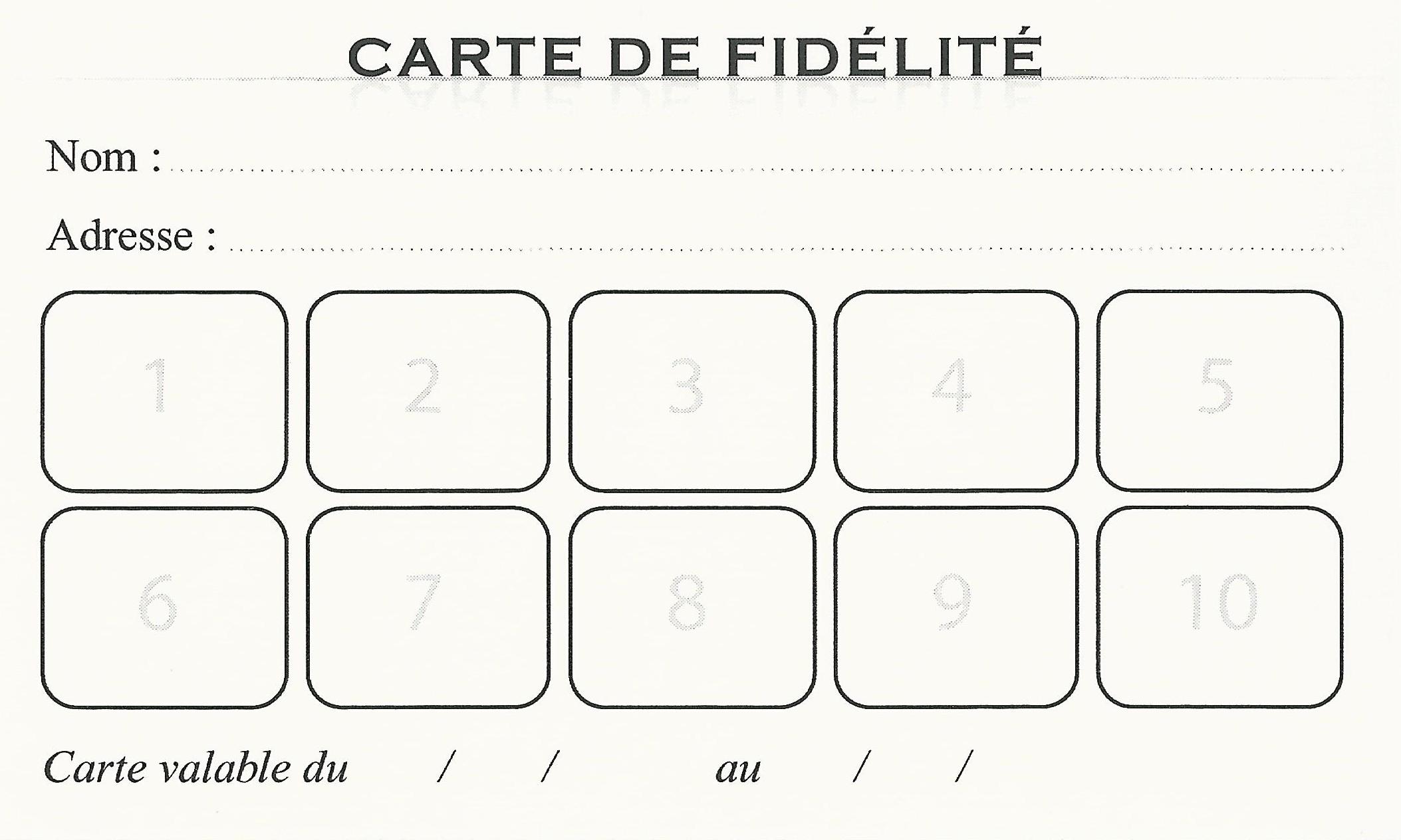 création carte de fidélité Carte de fidélité « Institut Onglerie Leï